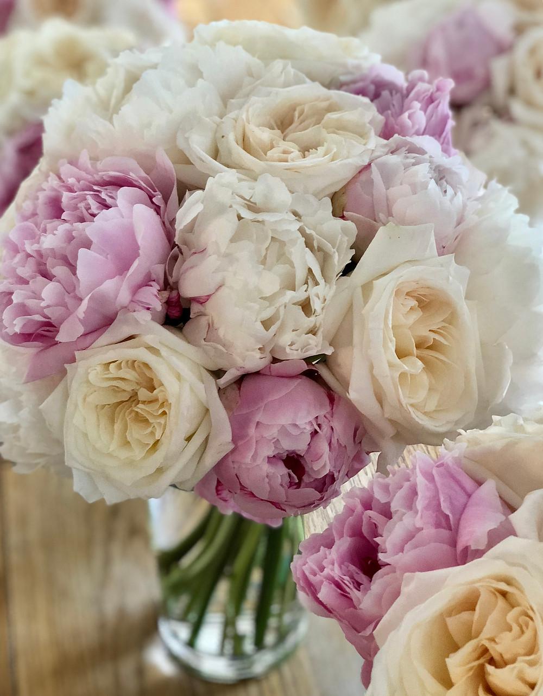 Stunning Peonies and Garden Rose 'Ohara' Bridal bouquet  Bingham Hotel
