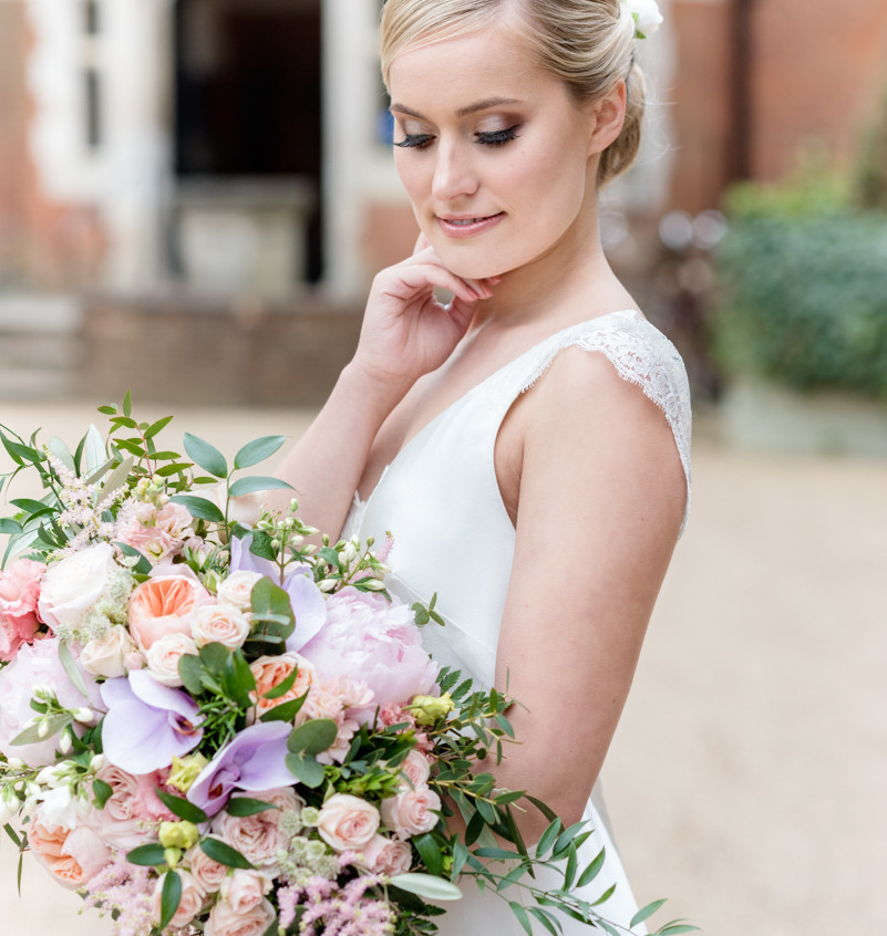 Bride at Entrance of Wotton House