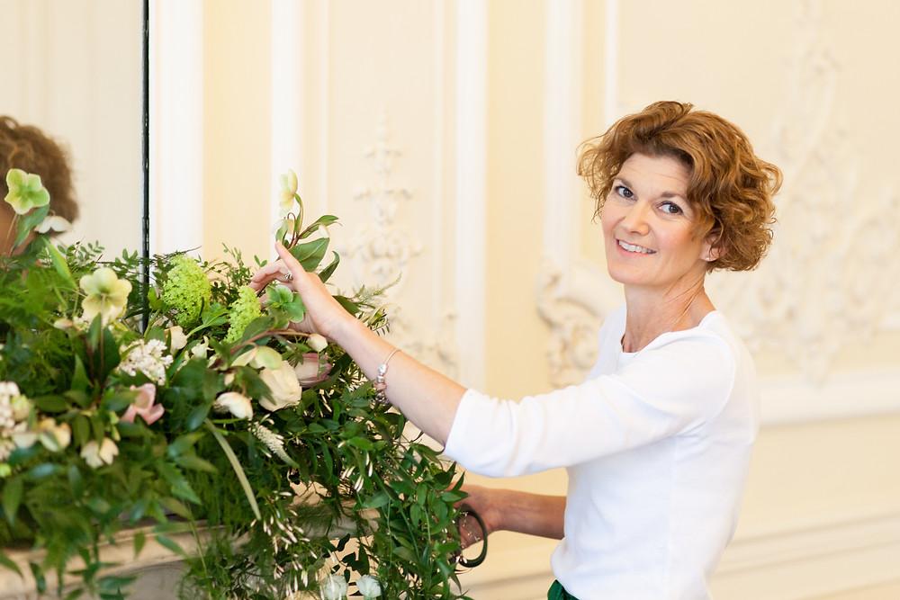 Johanna the florist behind the flowers