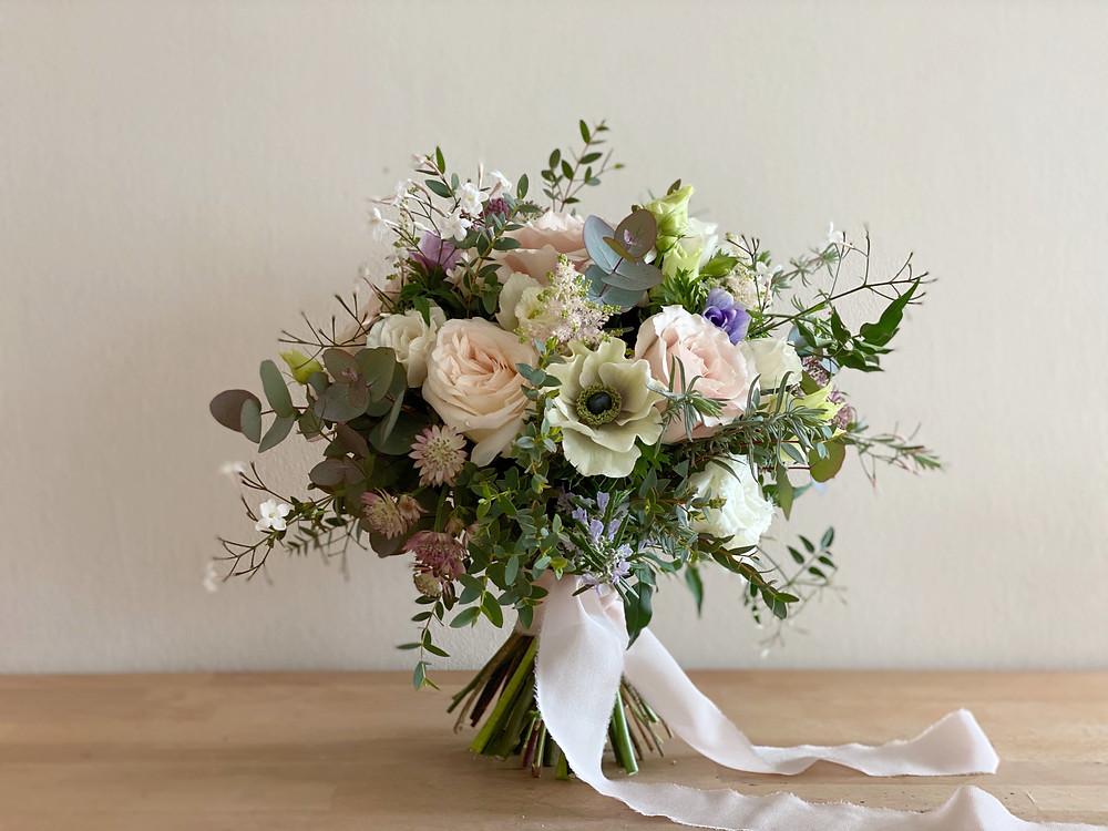 Anemone, White Ohara Bridal bouquet