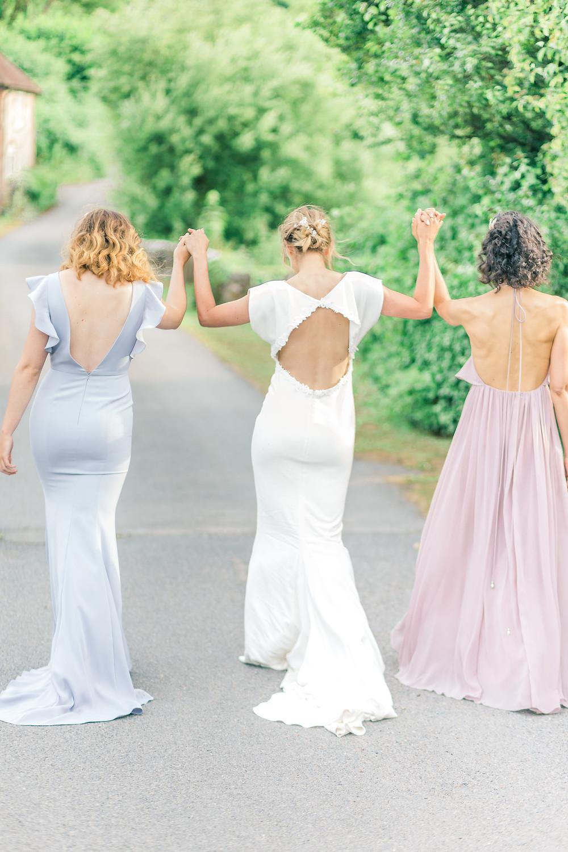 Bride and Bridesmaids Celebration Walk