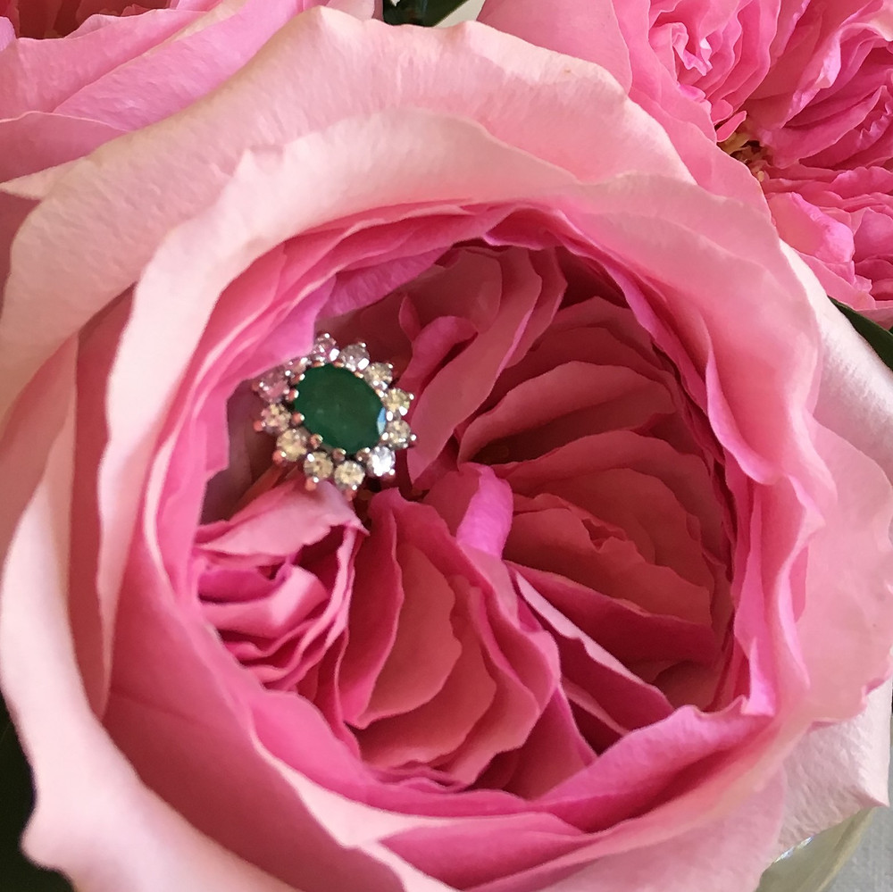 Engagement and Wedding Rose Carey