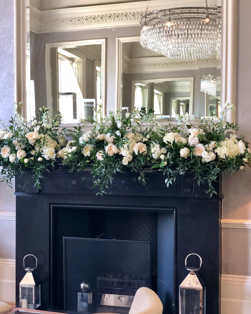 Mantlepiece Flowers at The Bingham Hotel in Richmond