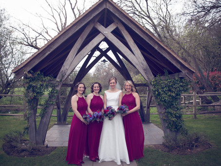 Burgandy and Blue Wedding Flowers