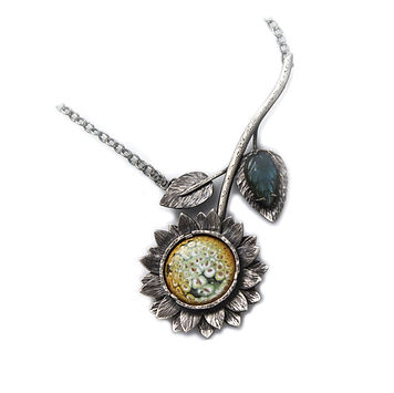 sunflower-enamel-sterlingsilver-jewelry-