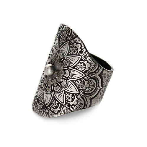 Mandala Me Pretty ~ Sterling Silver With Sterling Silver Drop