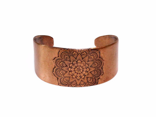 Mandala Copper Cuff