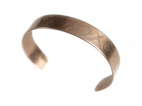 XOXOXO Cuff ~ Bronze
