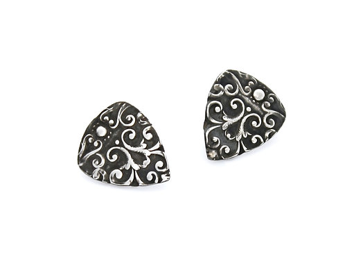 Victorian Guitar Picks ~ Sterling Silver