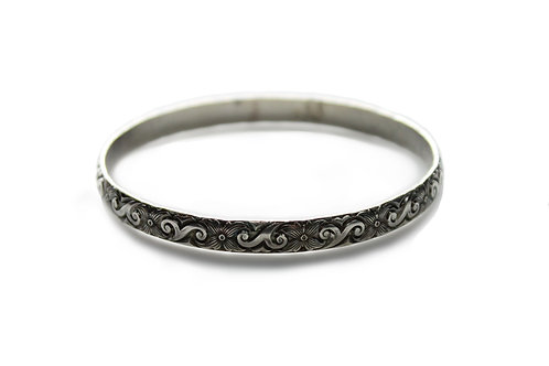 Art Nouveau Bangle ~ Sterling Silver