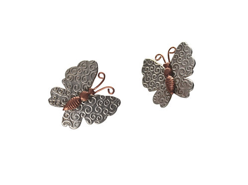 Free Like A Butterfly ~ Sterling Silver & Copper
