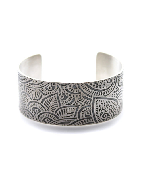 Pretty In Paisley Cuff ~ Sterling Sliver