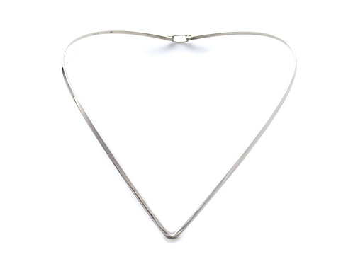 V Neck Ring ~ Sterling Silver