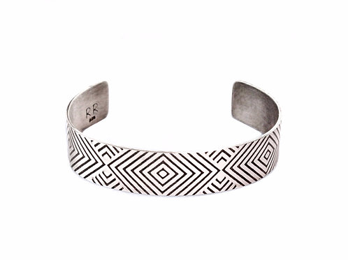 EZ Geometry Cuff ~ Sterling Silver