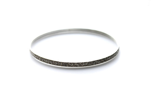 Feathery Swirl Bangle ~ Sterling Silver