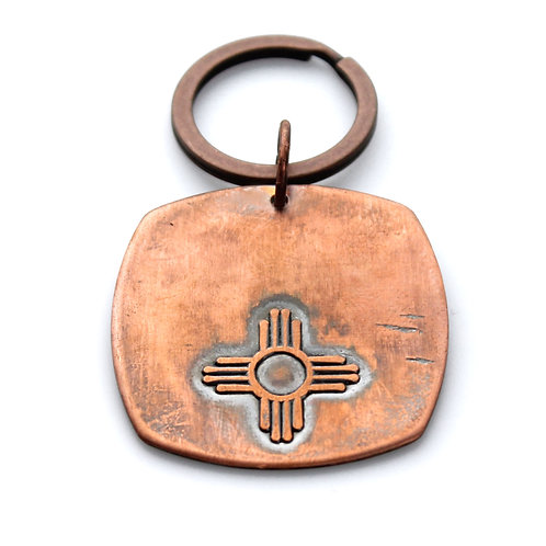 Zia Keychain / Zipper Pull  Copper
