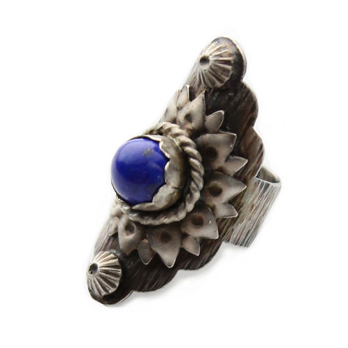 Blossoming Lapis Lazuli  Sterling Silver