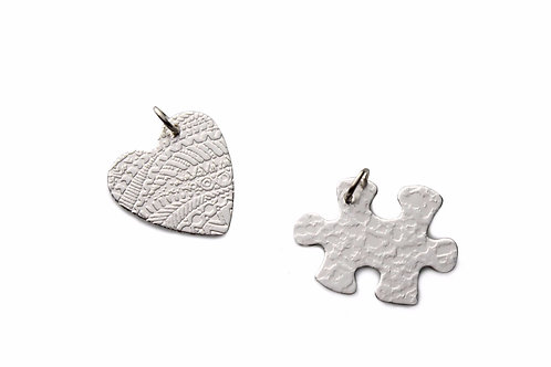 Vincent's Puzzle For Autism Awareness Fundraiser ~ Sterling Silver
