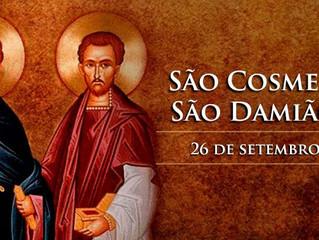 Hoje celebra-se São Cosme e São Damião, gêmeos mártires e padroeiros dos médicos