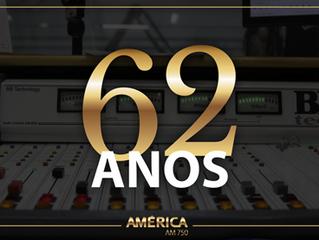 62 anos: Novidades na programação e investimentos tecnológicos marcam o aniversário da Rádio América