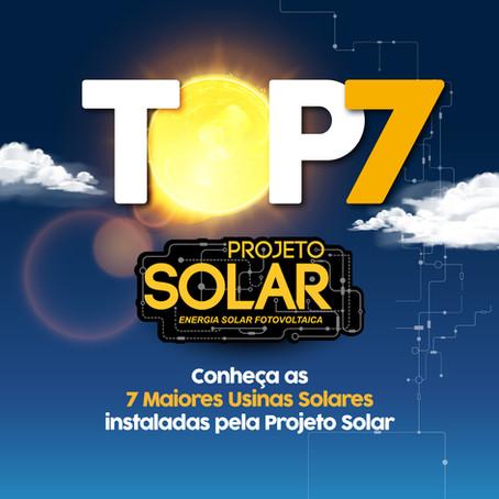TOP7 - Projeto Solar: Conheça as 7 maiores Usinas Solares instalados pela Projeto Solar