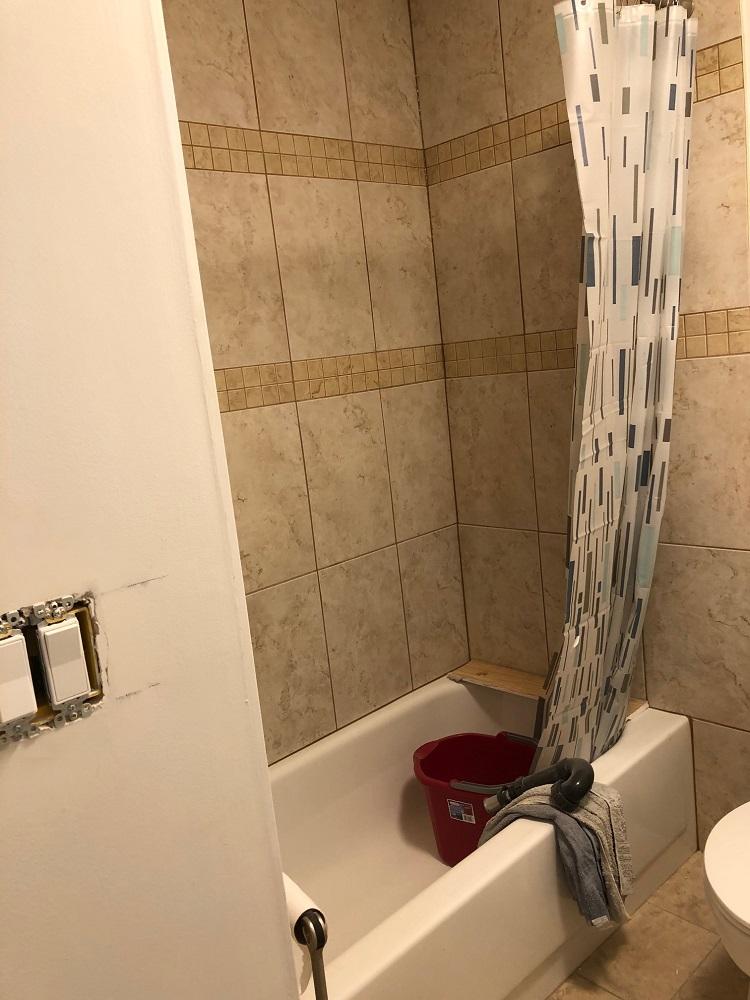 Basement bath before 1