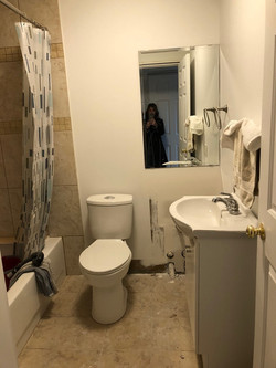 Basement bath before 2