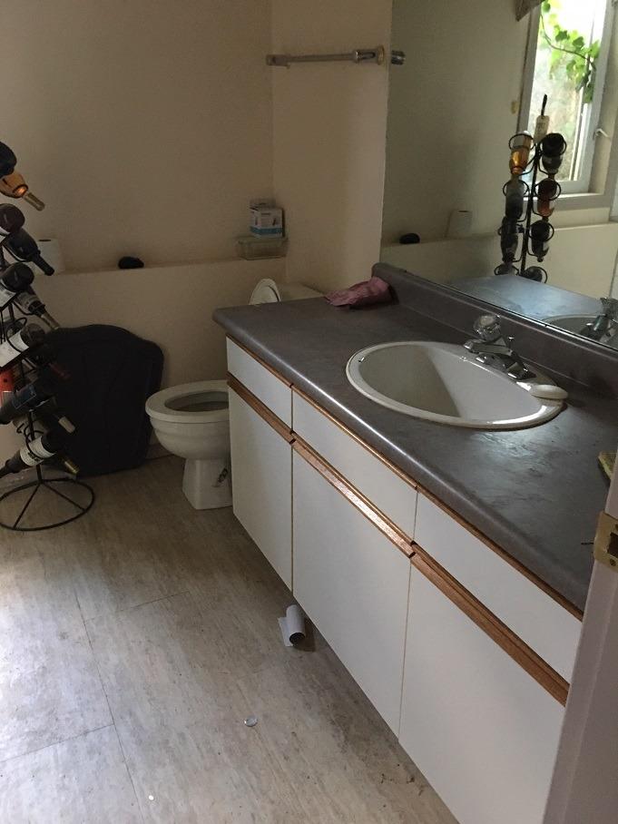 before basement bathroom