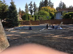 Pool going in