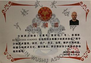President of Shaolin Wushu Association Greece