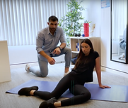 Hip mobility exercises with foam rolling