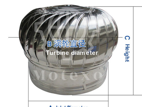 Turbine Ventilator for Roof Ventilation