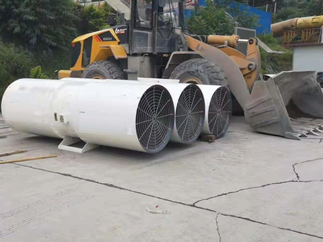 Axial Ventilator for Tunnel Construction Works in Laos and other Countries