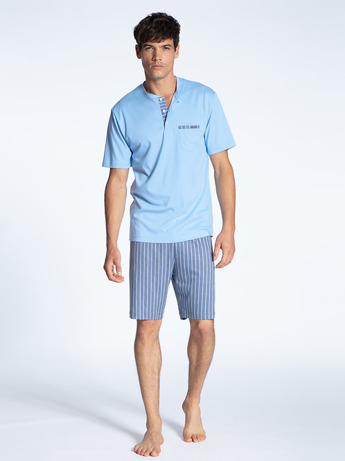 CALIDA MENS RELAX CHOICE SHORT PAJAMAS SET 44661
