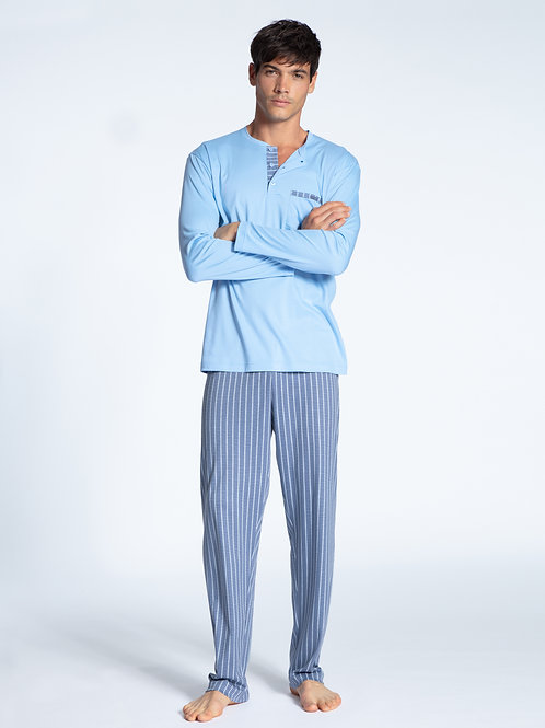 CALIDA MENS RELAX CHOICE SWISS PAJAMAS SET 44761