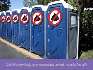 22,000 איש הסכימו מרצונם החופשי להעניק שירות לקהילה בתמורה ל-WiFi חינמי