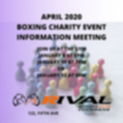 APRIL 2020 BOXING CHARITY EVENT INFORMAT