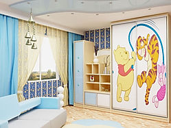 Шкаф с фотопечатью в детской