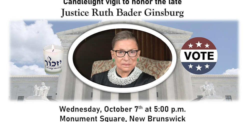 Candlelight Vigil to Honor the Late Justice Ruth Bader Ginsburg