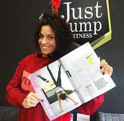 Magazyn be active a w nim Agnieszka Szaniawska instruktor fitness z Just Jump Fitness Warszawa opowiada i opisuje zajęcia bungee fitness