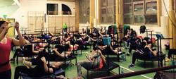fitness na trampolinach Praga