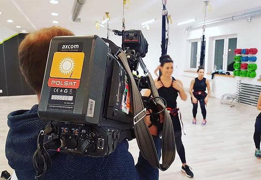 Just Jump Fitness Warszawa i Agnieszka Szaniawska instruktor fitness w telewizji Polsat Sport programie Atleci prezentuje i opowida o zajęciach fitness na trampolinach i bungee fitness