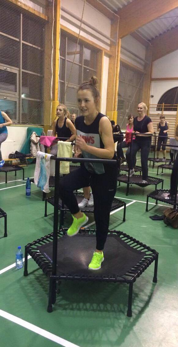 Olga Frycz w Just Jump Fitness