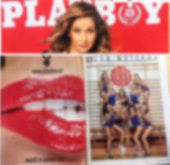 Magazyn Playboy a w nim Agnieszka Szaniawska instruktor fitness z Just Jump Fitness Warszawa na zdjęciu