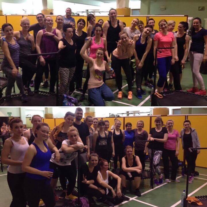 Uczestniczki Just Jump Fitness