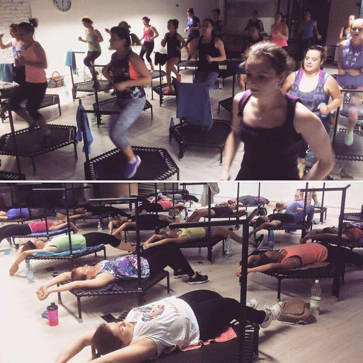 uczestnicy Just Jump Fitness