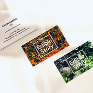 The Edible Story business card