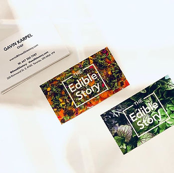 The Edible Story business Cards