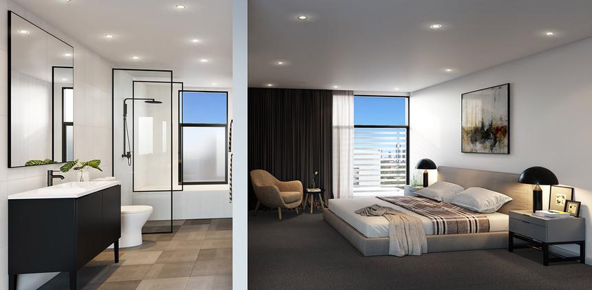 The Coro Bedroom & Bathroom