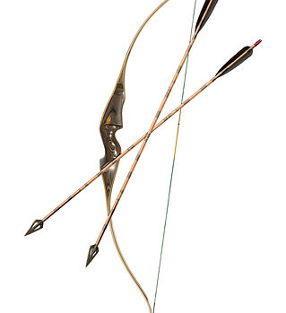 Bow and Arrows Classic 2 isolated on whi